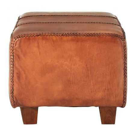 Leather Pouf Stool Unique Footstools Smithers of Stamford £ 400.00 Store UK, US, EU, AE,BE,CA,DK,FR,DE,IE,IT,MT,NL,NO,ES,SE