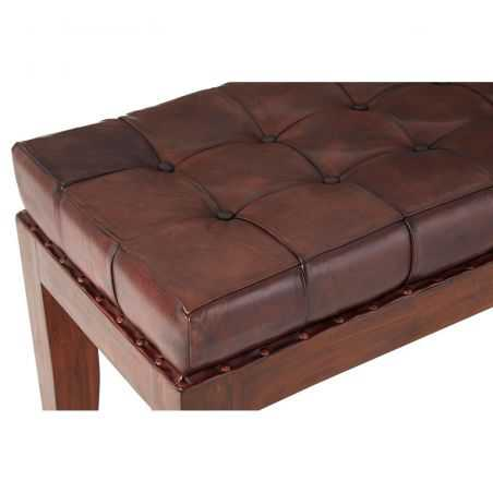 Brown Leather Bench Seat Designer Furniture Smithers of Stamford £ 579.00 Store UK, US, EU, AE,BE,CA,DK,FR,DE,IE,IT,MT,NL,NO,...
