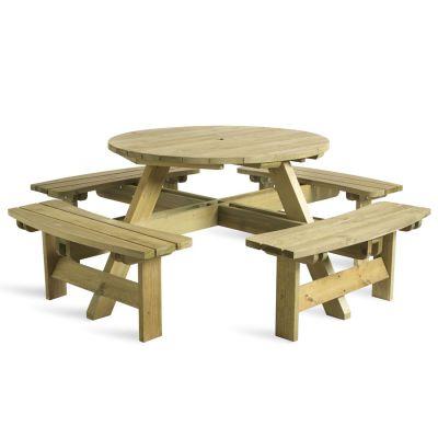 Outdoor Garden Table & Benches Set