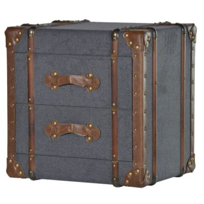 Grey Steamer Trunk Table