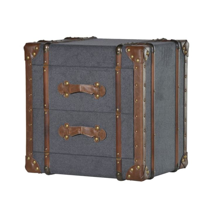 Grey Steamer Trunk Table Bedroom Smithers of Stamford £ 276.00 Store UK, US, EU, AE,BE,CA,DK,FR,DE,IE,IT,MT,NL,NO,ES,SE