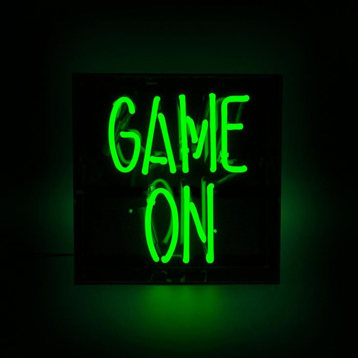 Game On Neon Sign Neon Signs Smithers of Stamford £ 94.00 Store UK, US, EU, AE,BE,CA,DK,FR,DE,IE,IT,MT,NL,NO,ES,SE