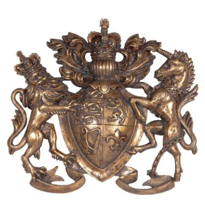 Brass Coat Of Arms Wall Plaque