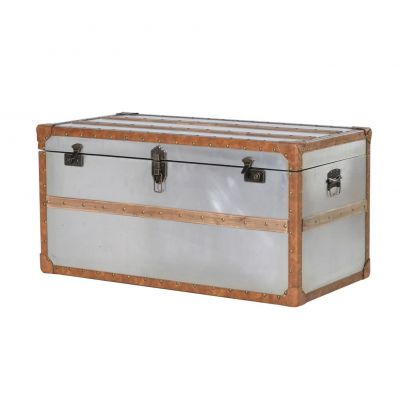 Steamer Metal Storage Trunk