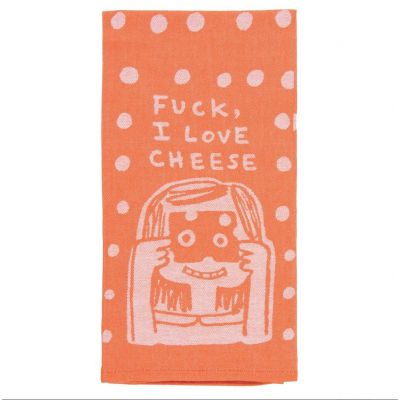 F_CK I love Cheese Tea Towel