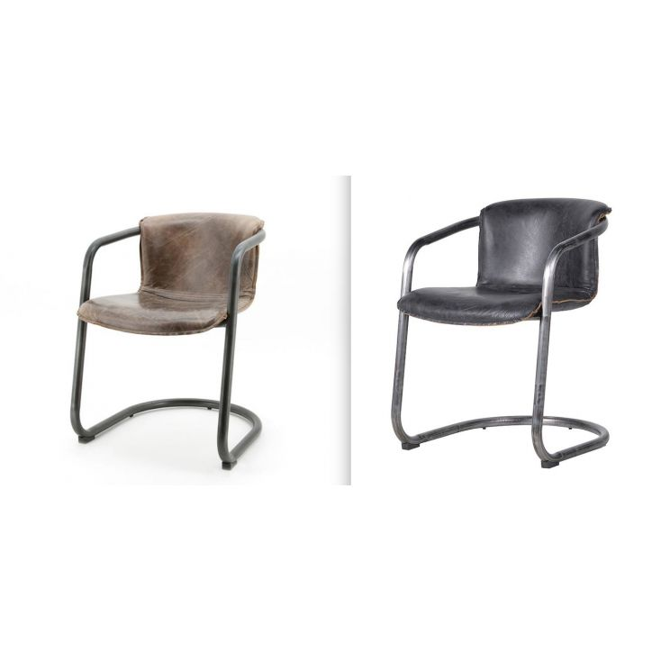 Leather Industrial Dining Chairs Chairs Smithers of Stamford £ 400.00 Store UK, US, EU, AE,BE,CA,DK,FR,DE,IE,IT,MT,NL,NO,ES,SE