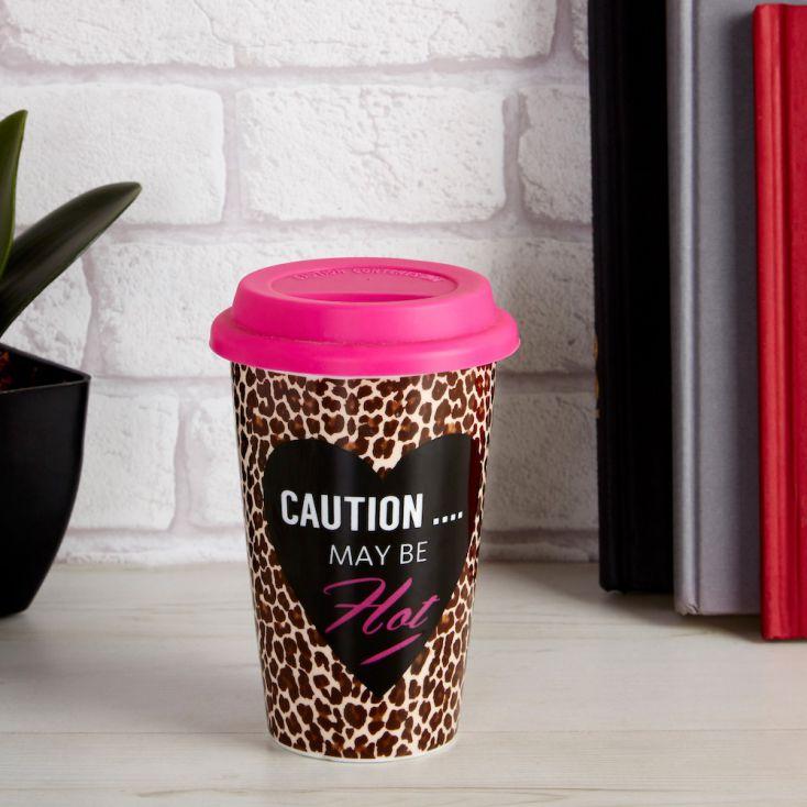Caution May Be Hot Travel Mug Personal Accessories £ 10.00 Store UK, US, EU, AE,BE,CA,DK,FR,DE,IE,IT,MT,NL,NO,ES,SE