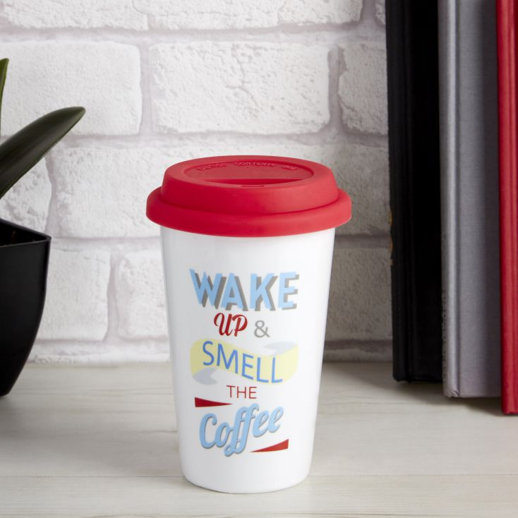 Wake Up Tavel Mug Personal Accessories £ 9.00 Store UK, US, EU, AE,BE,CA,DK,FR,DE,IE,IT,MT,NL,NO,ES,SE