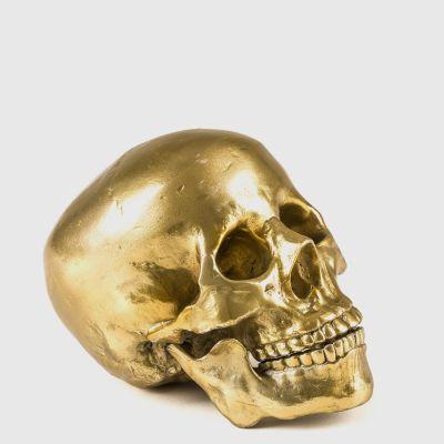 Gold Human Skull Ornament