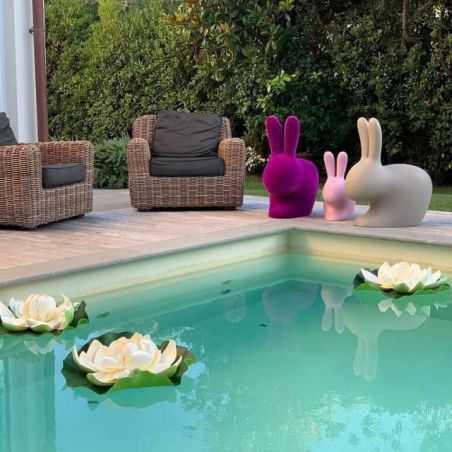 Qeeboo Flocked Rabbit Chair Designer Furniture  £319.00 Store UK, US, EU, AE,BE,CA,DK,FR,DE,IE,IT,MT,NL,NO,ES,SE