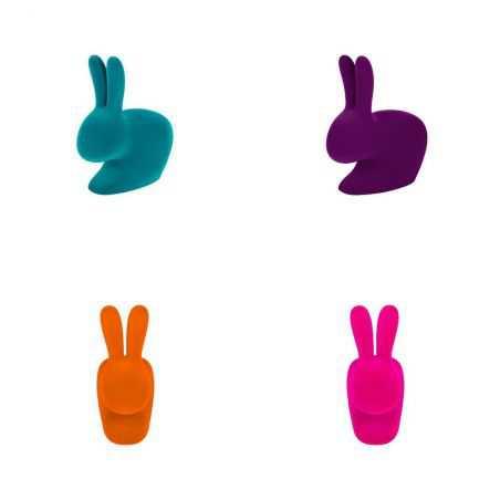 Qeeboo Flocked Baby Rabbit Chair Designer Furniture  £180.00 Store UK, US, EU, AE,BE,CA,DK,FR,DE,IE,IT,MT,NL,NO,ES,SE