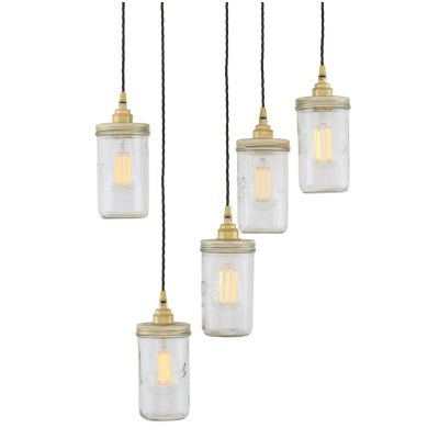 Jam Jar Pendant Cluster Light