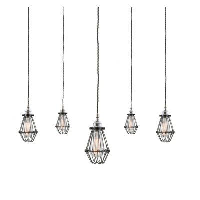 Caged Ceiling Pendant Cluster Light
