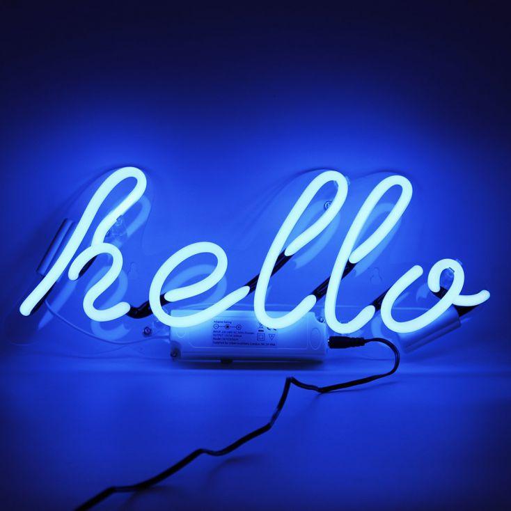 Hello Neon Sign Vintage Lighting Seletti £ 60.00 Store UK, US, EU, AE,BE,CA,DK,FR,DE,IE,IT,MT,NL,NO,ES,SE