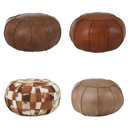 Round Leather Footstool Footstools Smithers of Stamford £275.00 Store UK, US, EU, AE,BE,CA,DK,FR,DE,IE,IT,MT,NL,NO,ES,SE