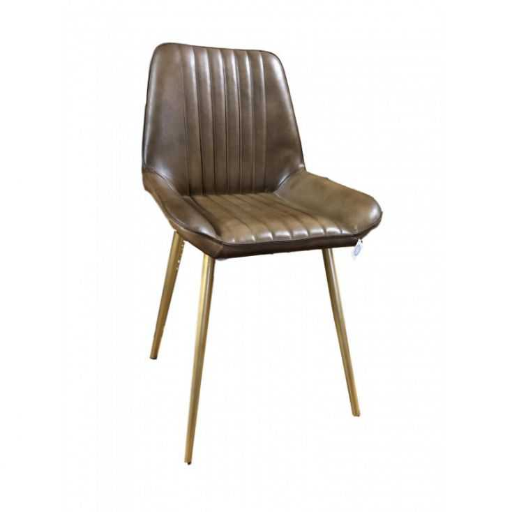 Brown Leather Dining Chairs Chairs Smithers of Stamford £ 250.00 Store UK, US, EU, AE,BE,CA,DK,FR,DE,IE,IT,MT,NL,NO,ES,SE
