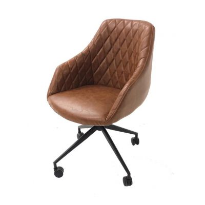 Hamilton Brown Leather Office Chair