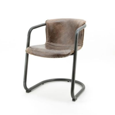 Aviator Tornado Leather Dining Chairs