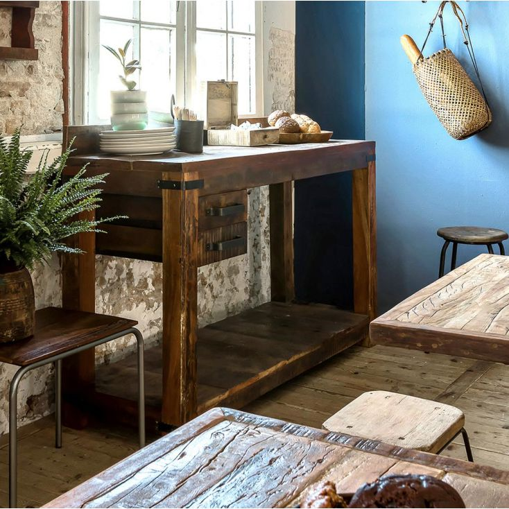 Factory Work Station Reclaimed Wood Furniture Smithers of Stamford £ 965.00 Store UK, US, EU, AE,BE,CA,DK,FR,DE,IE,IT,MT,NL,N...