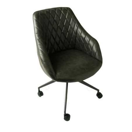 Hamilton Grey Leather Office Chair Vintage Furniture Smithers of Stamford £385.00 Store UK, US, EU, AE,BE,CA,DK,FR,DE,IE,IT,M...