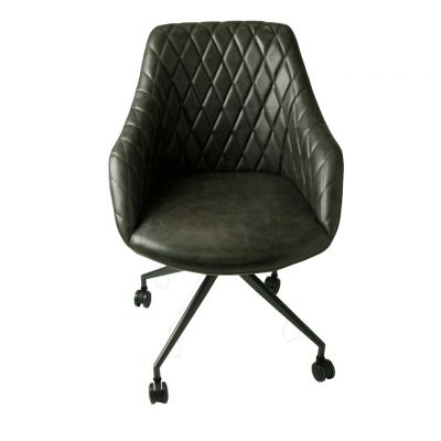 Hamilton Grey Leather Office Chair