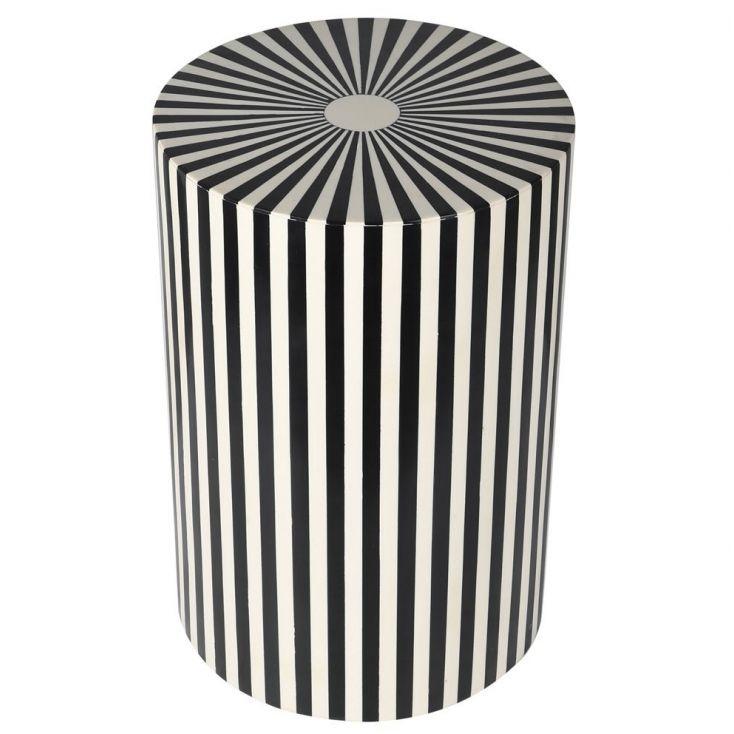 Black And White Stripes End Side Table Designer Furniture £ 465.00 Store UK, US, EU, AE,BE,CA,DK,FR,DE,IE,IT,MT,NL,NO,ES,SE
