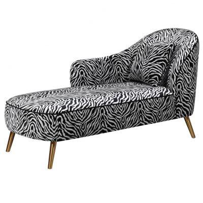 Zebra Print Chaise Longue