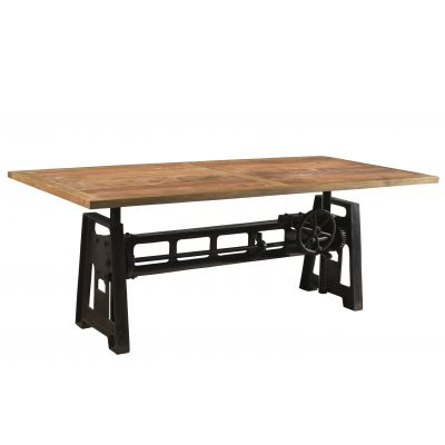 Adjustable Industrial Dining Table