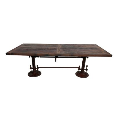 Adjustable Height Teak Dining Table