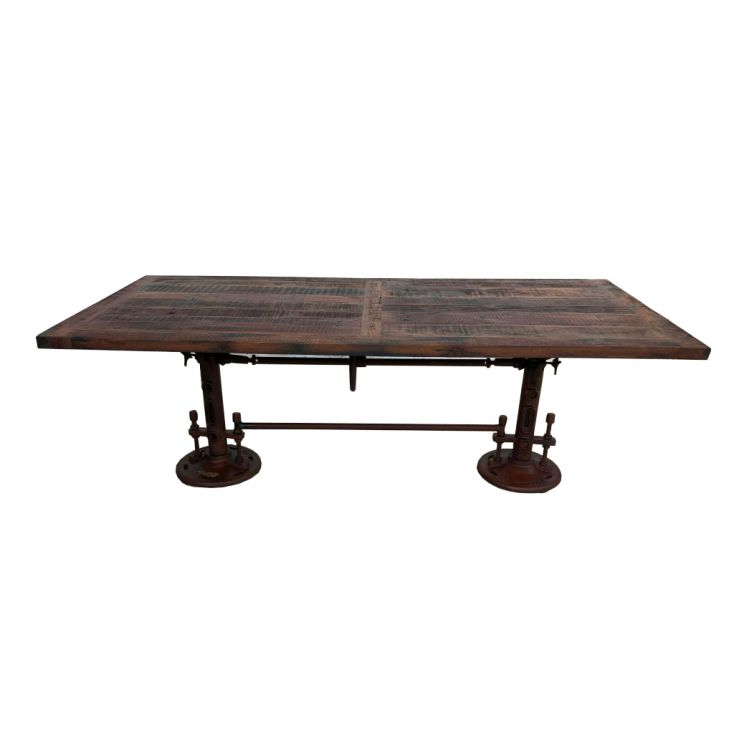 Adjustable Height Teak Dining Table Industrial Furniture Smithers of Stamford £ 1,845.00 Store UK, US, EU, AE,BE,CA,DK,FR,DE,...