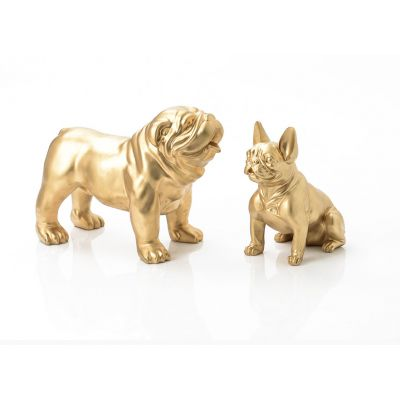 Gold Bulldog Ornaments