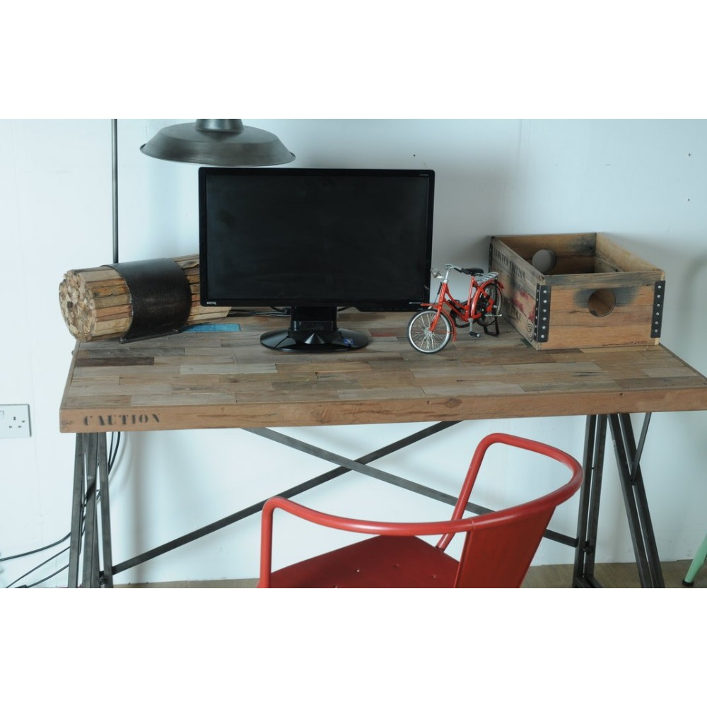 Find Industrial Loft Office Desk Contemporary Reclaimed Wooden Vintage