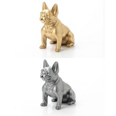 Gold or Silver French Bulldog Ornaments
