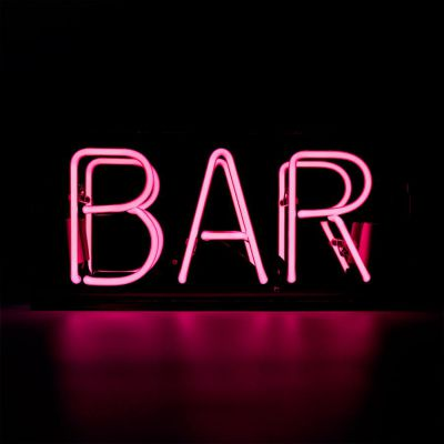 Pink Neon Bar Sign