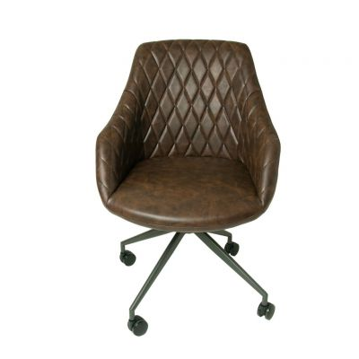 Hamilton Dark Brown Leather Office Chair