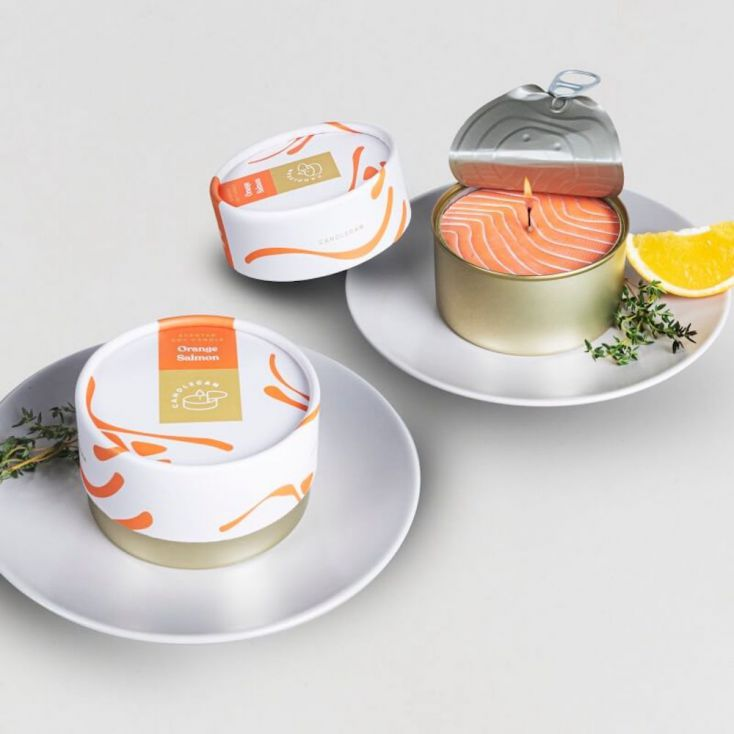 Candle Can Salmon Scented Retro Gifts £ 24.00 Store UK, US, EU, AE,BE,CA,DK,FR,DE,IE,IT,MT,NL,NO,ES,SE