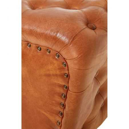 Tan Leather Pouf Stool Footstools Smithers of Stamford £ 225.00 Store UK, US, EU, AE,BE,CA,DK,FR,DE,IE,IT,MT,NL,NO,ES,SE