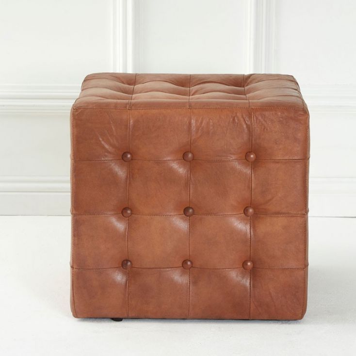 Tan Leather Pouf Footsool Footstools Smithers of Stamford £ 225.00 Store UK, US, EU, AE,BE,CA,DK,FR,DE,IE,IT,MT,NL,NO,ES,SE