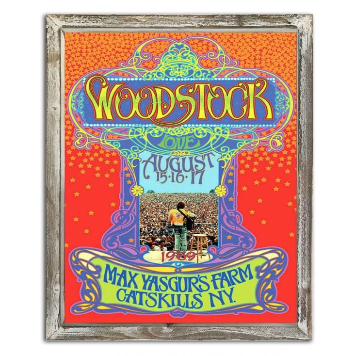 Woodstock Picture Frame Retro Gifts £ 25.00 Store UK, US, EU, AE,BE,CA,DK,FR,DE,IE,IT,MT,NL,NO,ES,SE