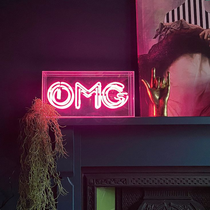 OMG Neon Sign Christmas Gifts Smithers of Stamford £ 94.00 Store UK, US, EU, AE,BE,CA,DK,FR,DE,IE,IT,MT,NL,NO,ES,SE