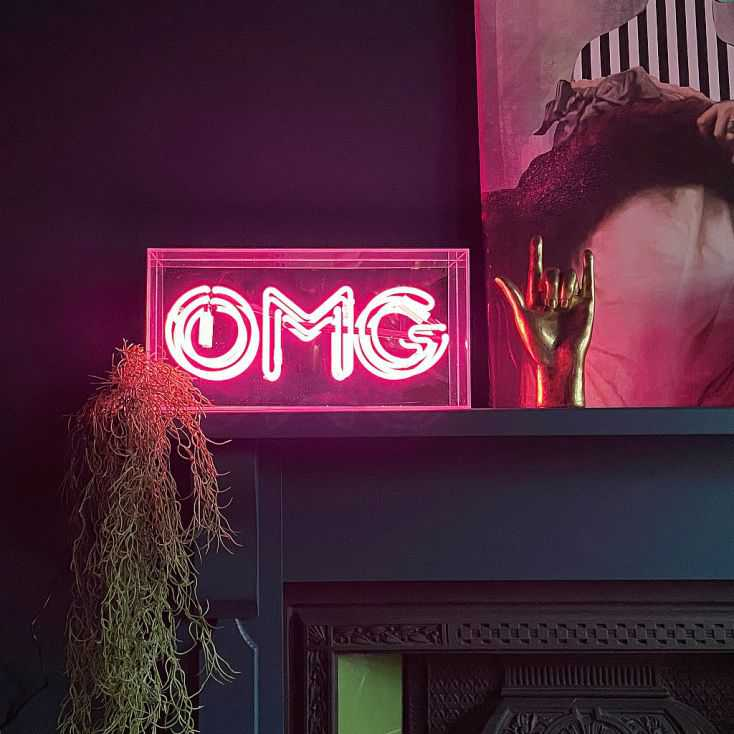 OMG Neon Sign Christmas Gifts Smithers of Stamford £ 99.00 Store UK, US, EU, AE,BE,CA,DK,FR,DE,IE,IT,MT,NL,NO,ES,SE