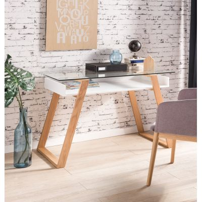 Ancillotti Glass Office Desk