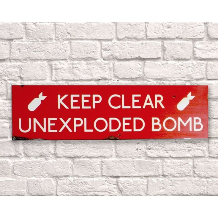 Keep Clear Unexploded Bomb Retro Signs Smithers of Stamford £ 44.50 Store UK, US, EU, AE,BE,CA,DK,FR,DE,IE,IT,MT,NL,NO,ES,SE