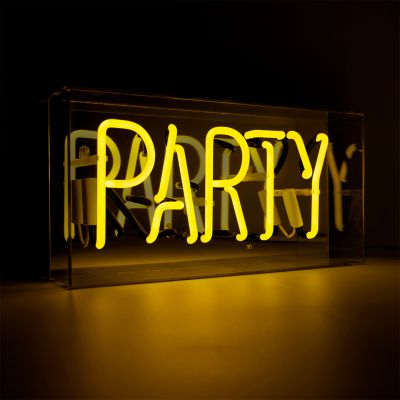 Yellow Party Neon Sign