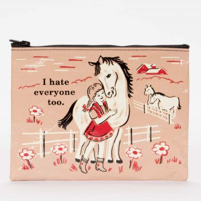 I Hate Everyone Too Zipper Purse