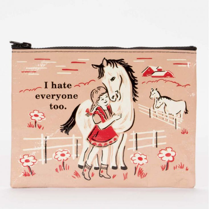 I Hate Everyone Too Zipper Purse Retro Gifts £ 7.00 Store UK, US, EU, AE,BE,CA,DK,FR,DE,IE,IT,MT,NL,NO,ES,SE
