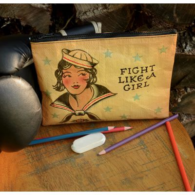 Fight like A Girl Zipper Purse