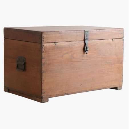 Teak Wood Storage Trunk Chest Reclaimed Wood Furniture Smithers of Stamford £ 450.00 Store UK, US, EU, AE,BE,CA,DK,FR,DE,IE,I...