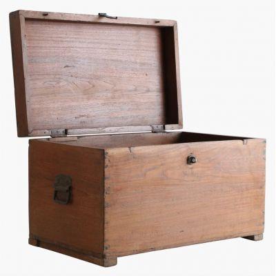 Teak Wood Storage Trunk Chest