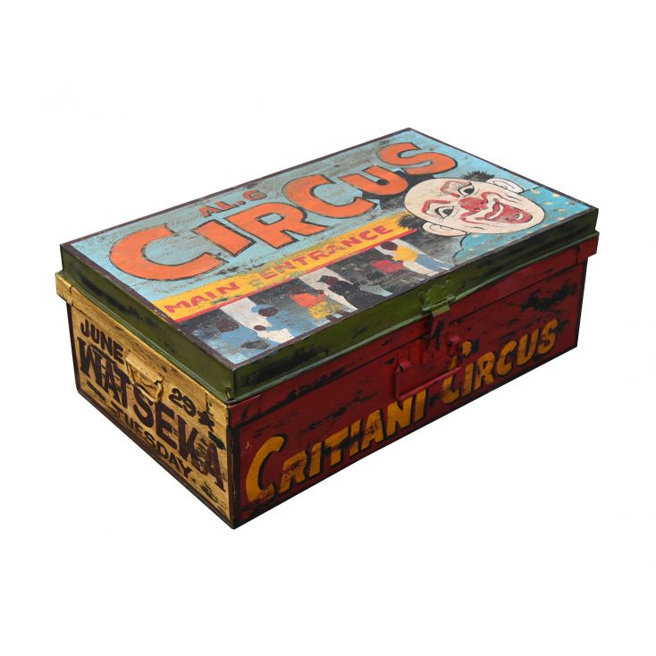 CIRCUS Clown Storage Trunk Trunk Chests Smithers of Stamford £ 90.00 Store UK, US, EU, AE,BE,CA,DK,FR,DE,IE,IT,MT,NL,NO,ES,SE